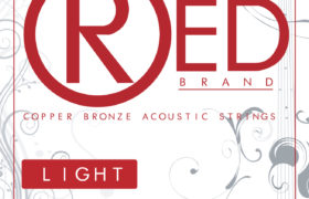 RED acoustic guitar strings 12-53 Light