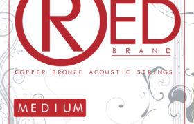 RED acoustic guitar strings 13-56 Medium